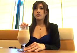 デートクラブで待ち合わせた美人女子大生を口説いてSEX!