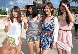 ドスケベ美女4人が沖縄で次々に男を逆ナンして中出しさせまくる!