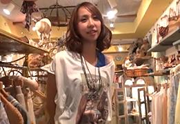【素人】代官山の古着屋で見つけた美人店員を取材と騙してハメる!の画像です