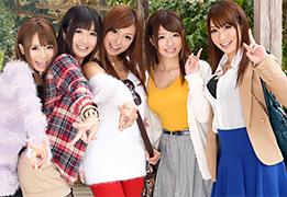 学生最後の思い出作りに卒業旅行でヤリまくる激カワ女子大生5人組!