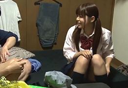 「東京に遊びに来た!」と突然泊まりに来た従姉のJKとのエロい一夜