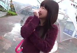 【素人】雨の新横浜でナンパした19歳女子大生のパイパンをハメて顔射!