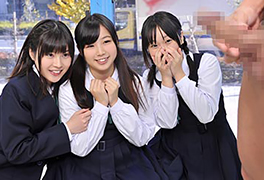修学旅行で地方から東京に出てきたウブな女子校生がデカチン初体験!