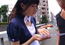 【素人】秋葉で人気のメイドリフレで一番可愛い娘をハメる!!