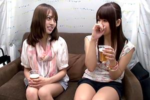 【素人】美人姉妹がエロ話で暴露合戦。この後、妹(左)をホテルに誘ってみる…