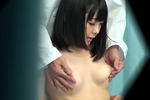 【マジックミラー号】昼休みに受けた乳がん検査で発情する巨乳OL