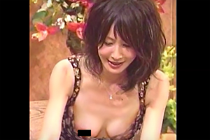 テレビで映った胸チラの画像です
