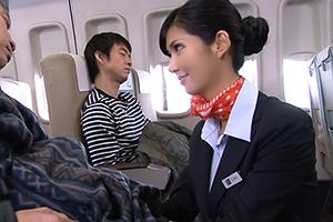 美人CA 麻生希 の卑猥な腰つきに客も機長もエロサービスを求めるwww