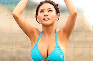 Hカップの現役人妻ビーチバレー選手 西田翔子(にしだしょうこ) AVデビュー!