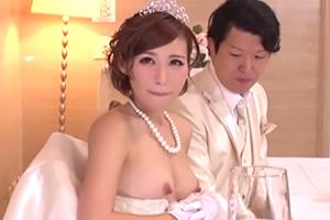 セックスのハードルが低い結婚式の画像です