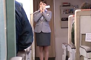 長身モデル級の美人CAを高度1万メートルの機内で中出しレイプ!