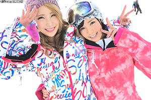 【ナンパTV】りおん 20歳。さわ 25歳。湯沢のスキー場でナンパした爆乳ギャル2人とホテルで3Pの画像です