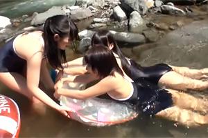 女子校生スクール中出し乱交~川辺で遊んだ夏の思い出~の画像です