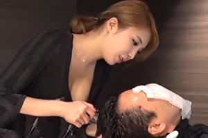 【一条リオン】魅惑の痴女美容師が柔らかいおっぱいを押し立て勧誘www
