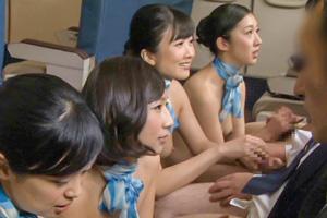 「制服・下着・全裸」でおもてなし またがりオマ○コ航空 2の画像です