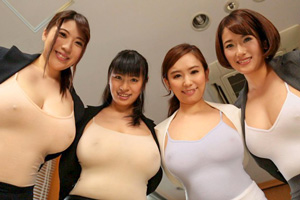 爆乳ノーブラ女子社員と中出し一夫多妻勤務の画像です