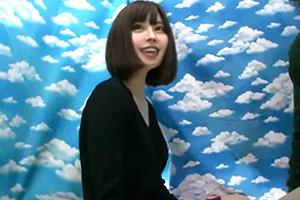 【素人ナンパ】ショートボブの可愛い愛娘とラップ素股からの中出しSEX!