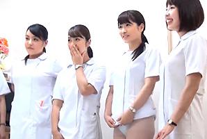 尾上若葉 入院している童貞患者のチンコを咥える激カワなナースたち
