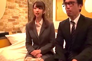 【一般男女モニタリングAV】終電を逃した会社員がラブホで1発10万チャレンジ!