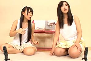 『えっ、デカくない?』親友同士の18才女子大学生が腰ふり競争☆