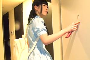 (山手線キャッチ)前髪ぱっつん美10代小娘のオシャレマンションでsex☆