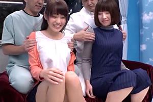 【マジックミラー号】美人妻が性感マッサージで初オーガズム体験!