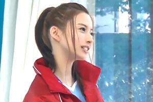 【マジックミラー号】引き締まったカラダが美しい!部活美少女を騙して中出し!