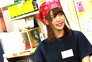 「ア、アカン、もぅヤバイ…」関西弁でイク姿がエロいお好み焼き屋店員