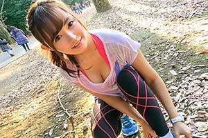 【ナンパTV】 のぞみ 22歳。今年一の大当たり!ジョギング中の美巨乳娘GETーッ