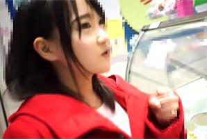 (シロウト)大阪の少女美巨乳18才を梅田デートで心開いて純粋娘ゲット☆