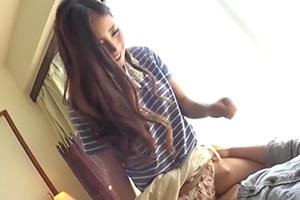 【大島美緒 跡美しゅり】エアセックス(素股)を女子大生にお願いした結果…