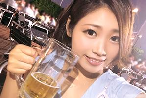 【ビアガーデンナンパ】お酒の力で20歳の大学生をお持ち帰り成功!