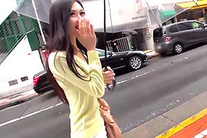 【素人ナンパ】街中で見つけた一際目立つスタイル抜群の美女