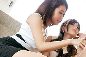 【3pSEX動画】元ナース(31)と美人女子アナ(24)の秘密の花園
