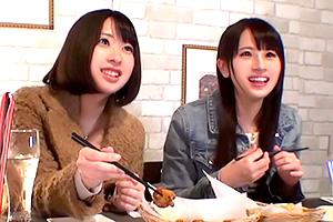 【素人ナンパ】欲求不満の美女が釣れると噂の相席居酒屋で女子二人組をGET!