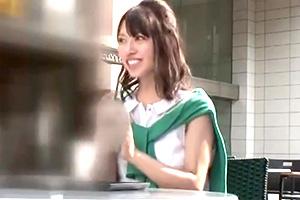 【素人ナンパ】カフェで口説いたアラサーOLをお持ち帰りして中出し!