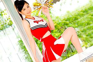 三鷹レイナ 175cmの9頭身でFカップ。美少女チアリーダーがAVデビュー!