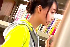 蓮実クレア ストレッチ教室の美尻司書を図書館でレイプ!