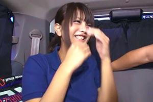 【個人撮影】部活帰りの日焼け美少女JKを連れ込みカーセックス