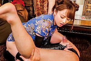 吉沢明歩 M男をムチ叩き&強制クンニで調教するチャイナドレス美女!