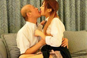【長谷川モニカ】ハーフ美少女JKがおじさんと円光中w街歩く2人を見ると親子のようw
