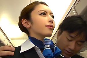 桜井あゆ 美しくて笑顔の素敵なCAを時間停止ボタンで好き放題ヤリまくる!