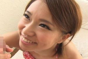 【岡沢リナ】のチュッパ♪チュッパ♪フェラwエッチなことが好きそうな笑顔が溢れるw