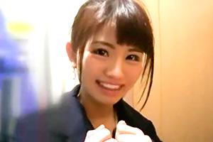 【素人】さいたま新都心でナンパした笑顔が素敵な女子大生に中出し!