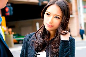 【素人】艶のある黒髪が美しいセレブ妻を吉祥寺でナンパ!