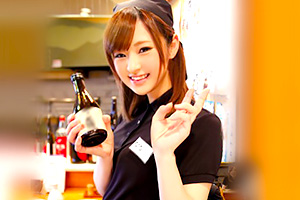 【素人】天使のような笑顔。芸能界に憧れる美少女居酒屋店員を口説き落とす!
