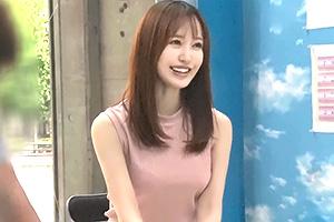 【マジックミラー号】妊活中のFカップ人妻が乳腺マッサージ体験!