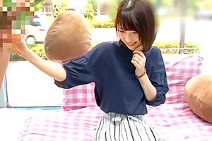 【マジックミラー号】Fカップの隠れ巨乳人妻が早漏改善!