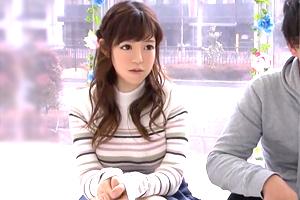 【マジックミラー号】ゆるふわ系女子大生が男友達と禁断の中出しSEX!