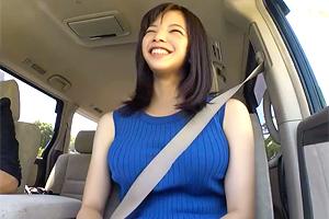 【素人】無邪気な笑顔が魅力的な巨乳人妻とラブホでハメ撮りSEX!